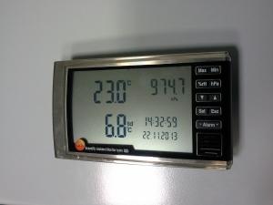 Taratura Termoigrometro Digitale